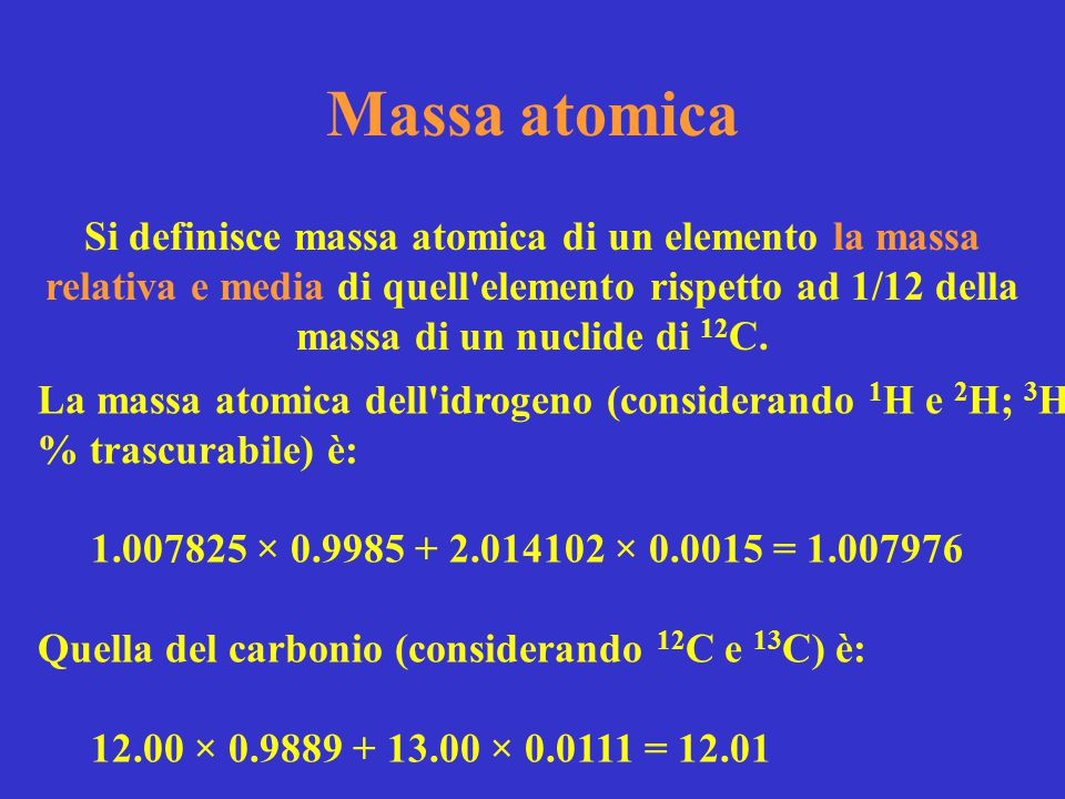 Massa atomica