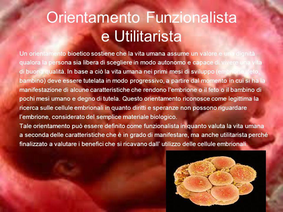 Orientamento Funzionalista e Utilitarista