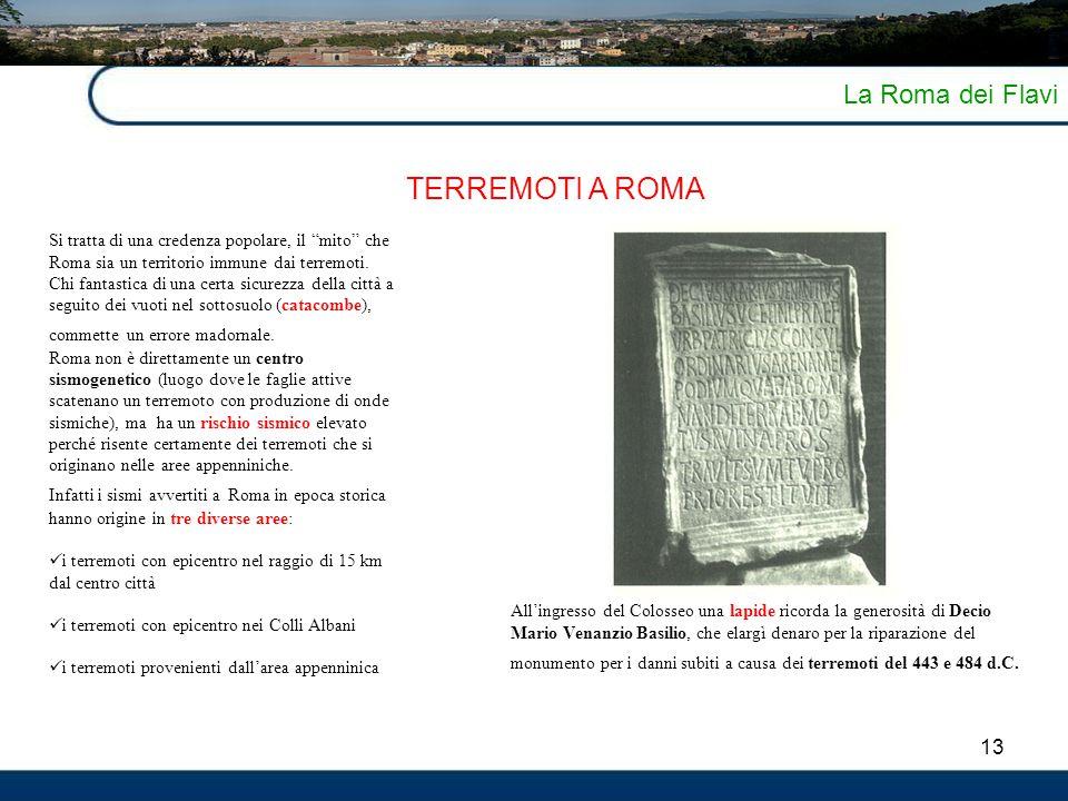 TERREMOTI A ROMA La Roma dei Flavi 13