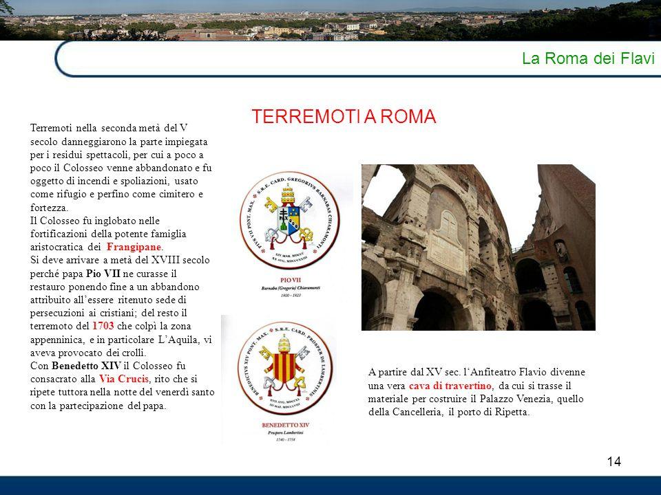 TERREMOTI A ROMA La Roma dei Flavi 14