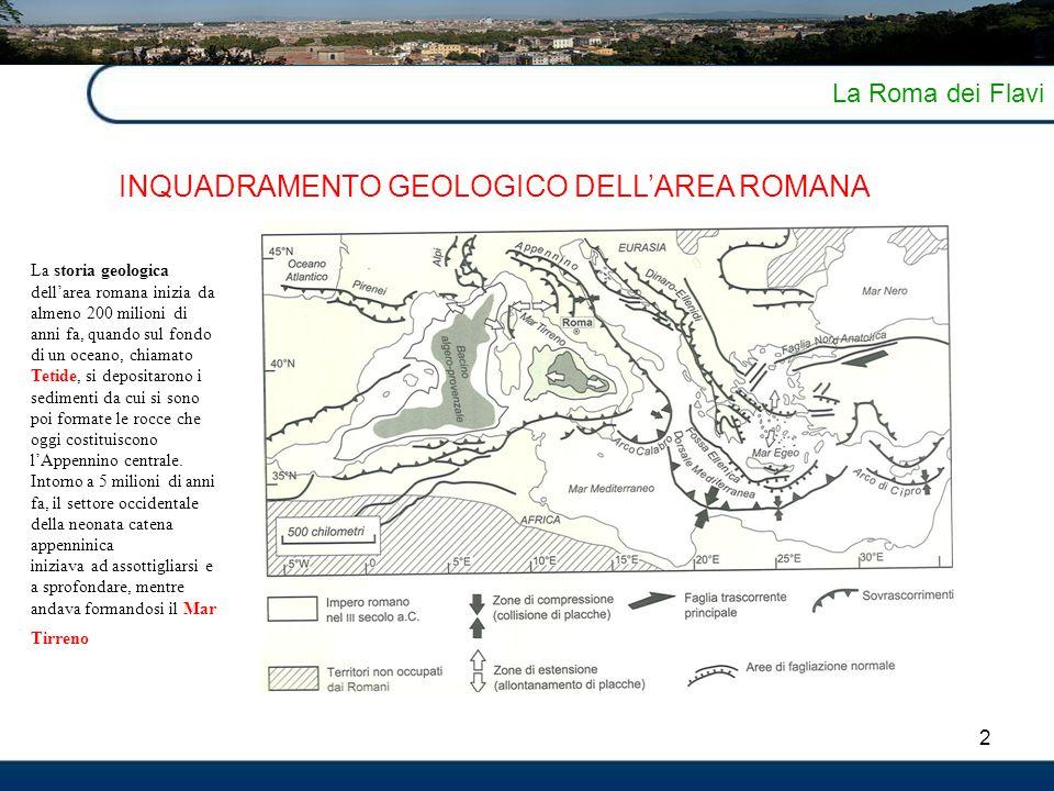 INQUADRAMENTO GEOLOGICO DELL'AREA ROMANA