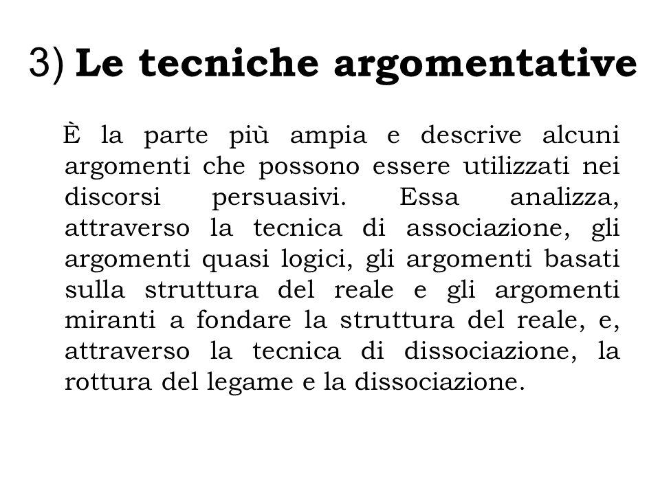 3) Le tecniche argomentative