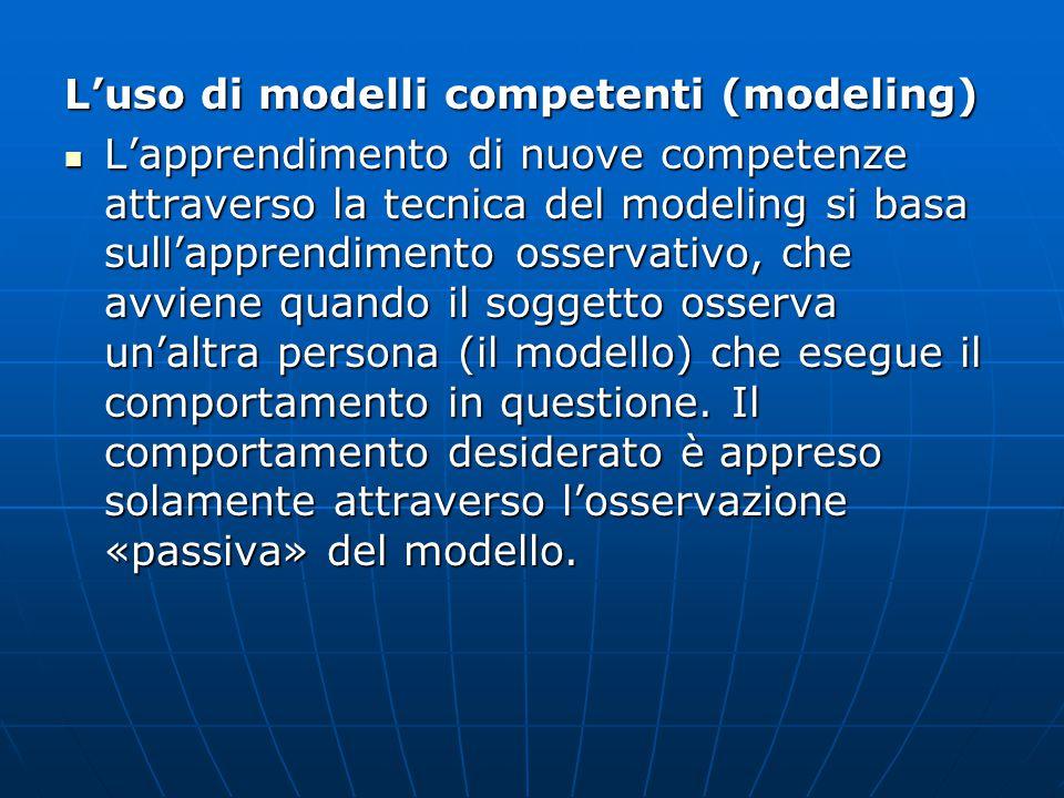 L'uso di modelli competenti (modeling)