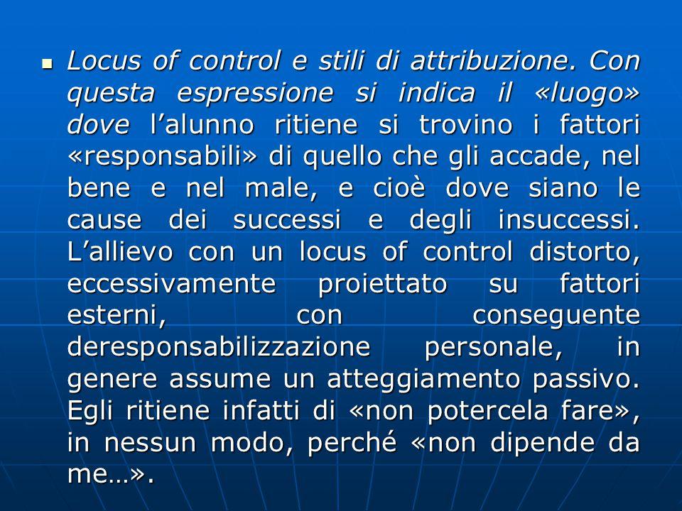 Locus of control e stili di attribuzione