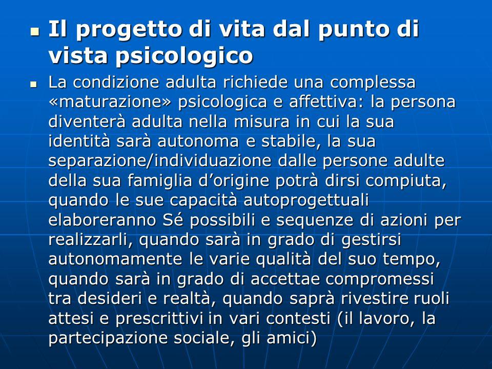 Il progetto di vita dal punto di vista psicologico