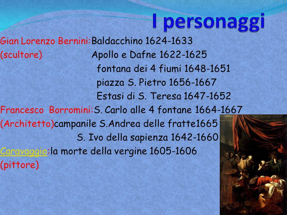 I personaggi fontana dei 4 fiumi 1648-1651 piazza S. Pietro 1656-1667