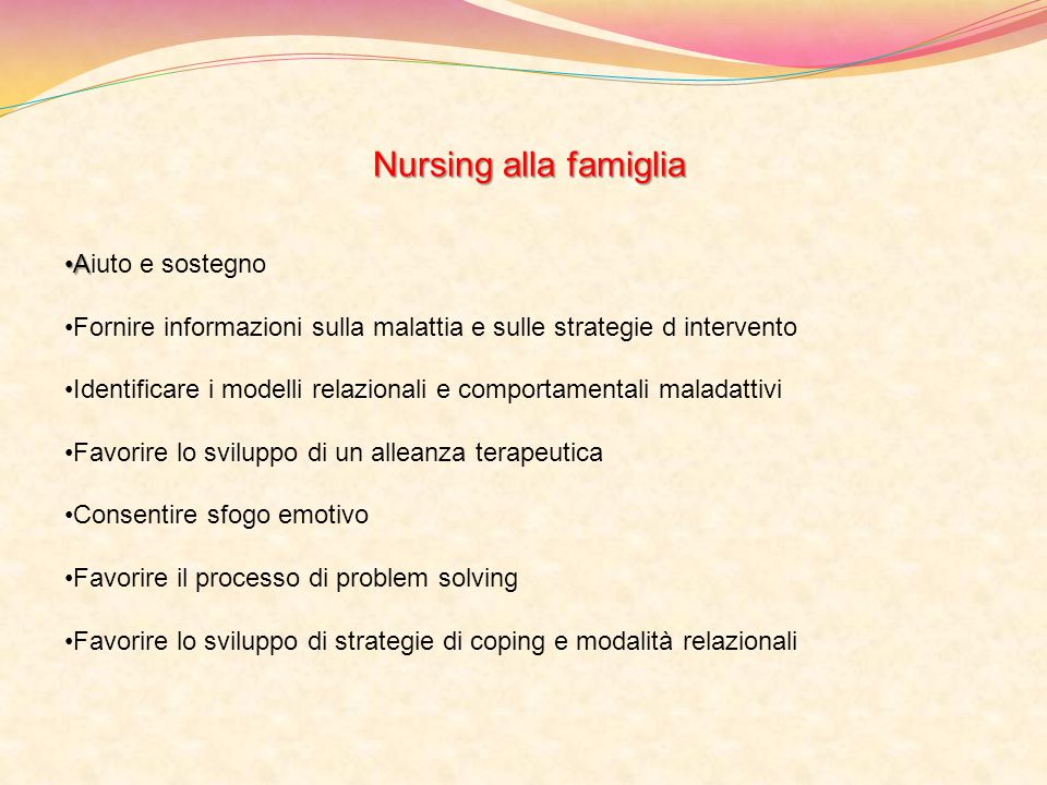 Nursing alla famiglia Aiuto e sostegno
