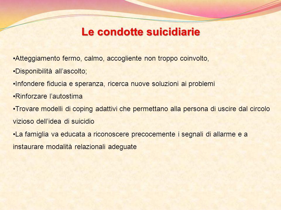 Le condotte suicidiarie