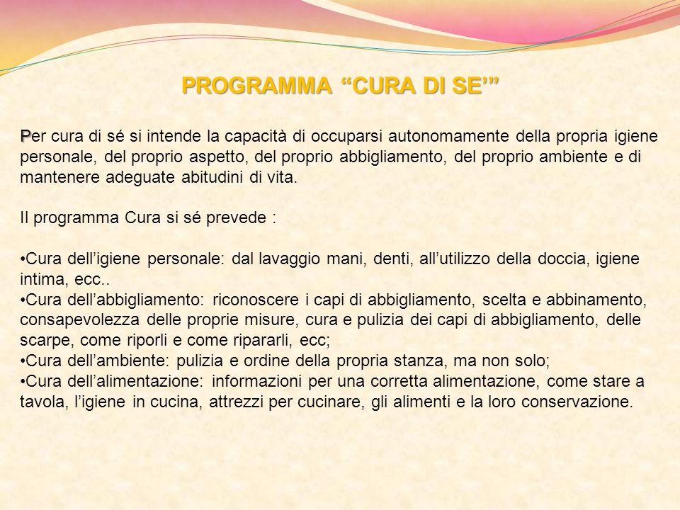 PROGRAMMA CURA DI SE'