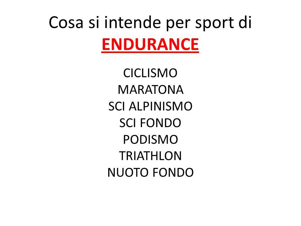 Cosa si intende per sport di ENDURANCE