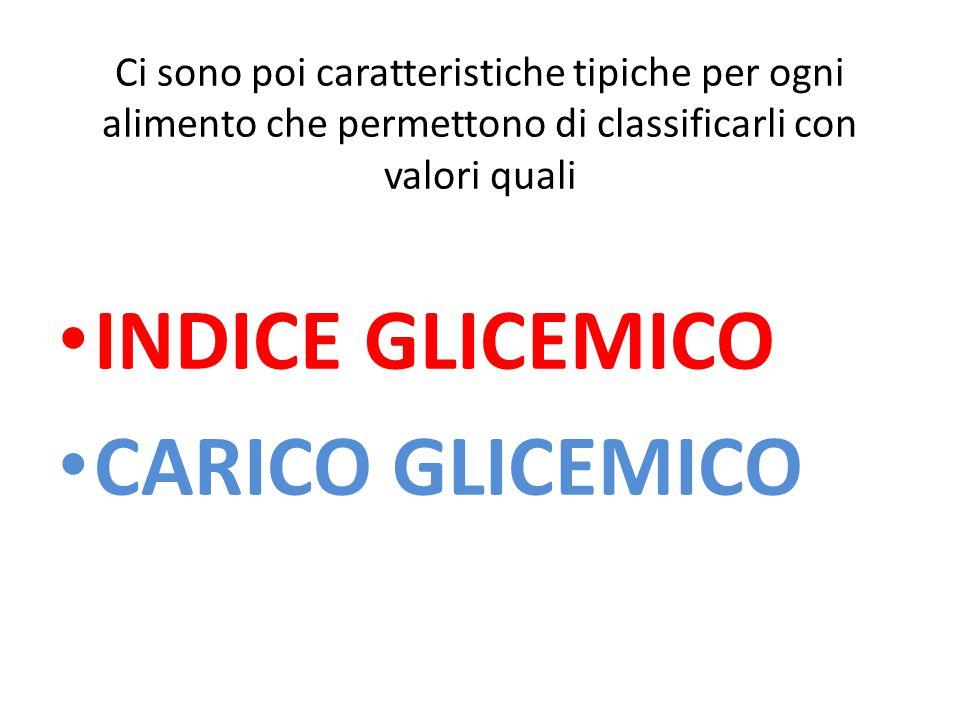 INDICE GLICEMICO CARICO GLICEMICO