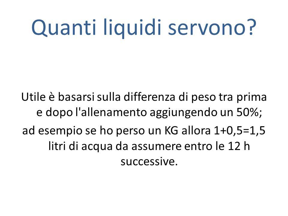 Quanti liquidi servono