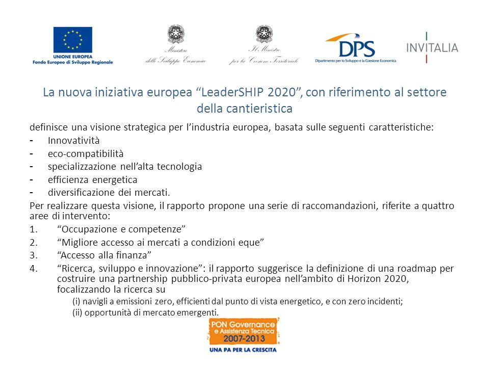 La nuova iniziativa europea LeaderSHIP 2020 , con riferimento al settore della cantieristica