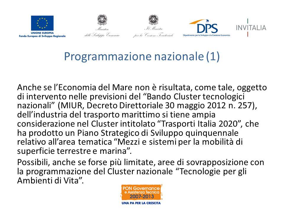 Programmazione nazionale (1)