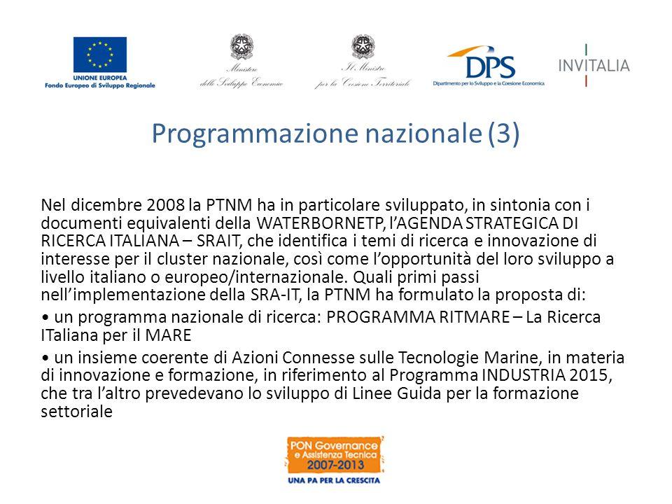 Programmazione nazionale (3)