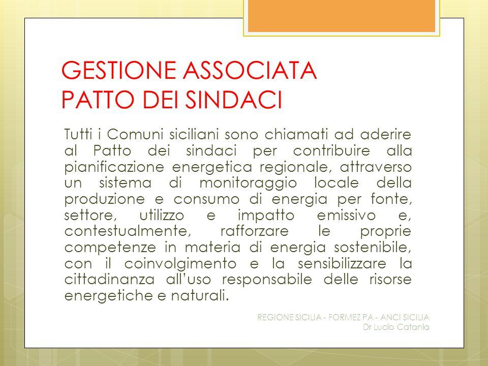 GESTIONE ASSOCIATA PATTO DEI SINDACI