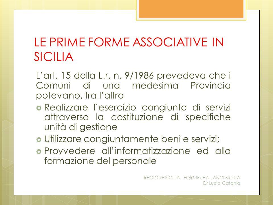 LE PRIME FORME ASSOCIATIVE IN SICILIA