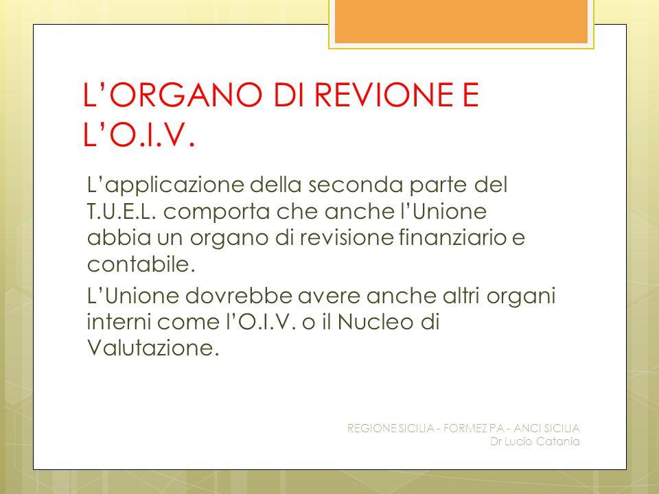 L'ORGANO DI REVIONE E L'O.I.V.