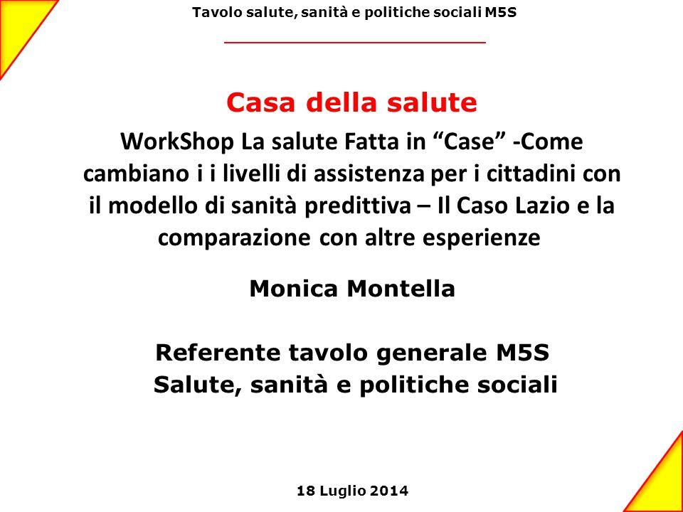 Tavolo salute, sanità e politiche sociali M5S