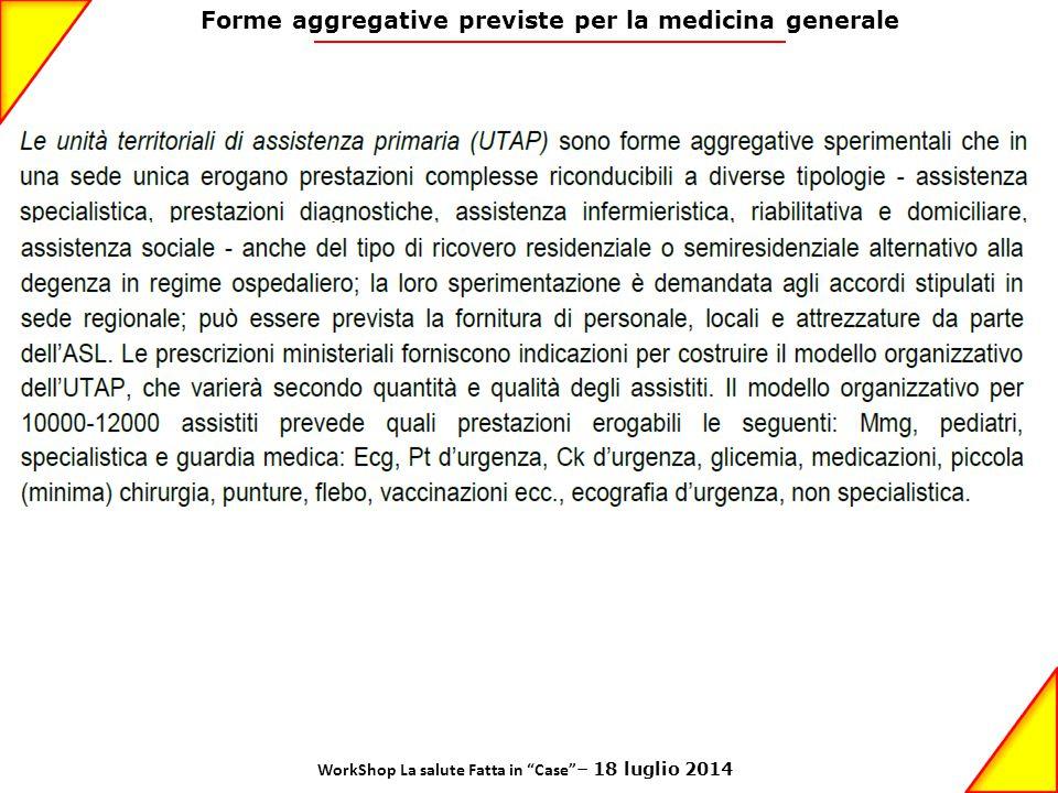 Forme aggregative previste per la medicina generale