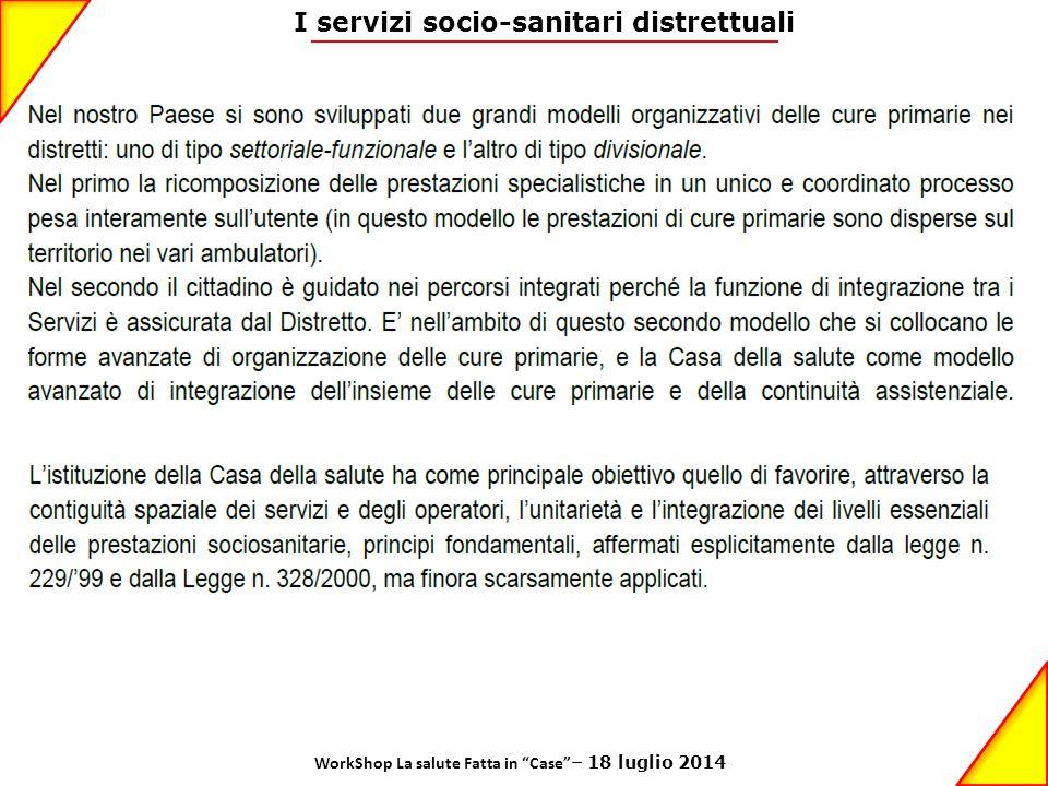 I servizi socio-sanitari distrettuali