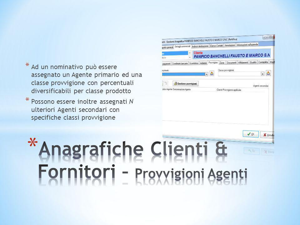 Anagrafiche Clienti & Fornitori – Provvigioni Agenti