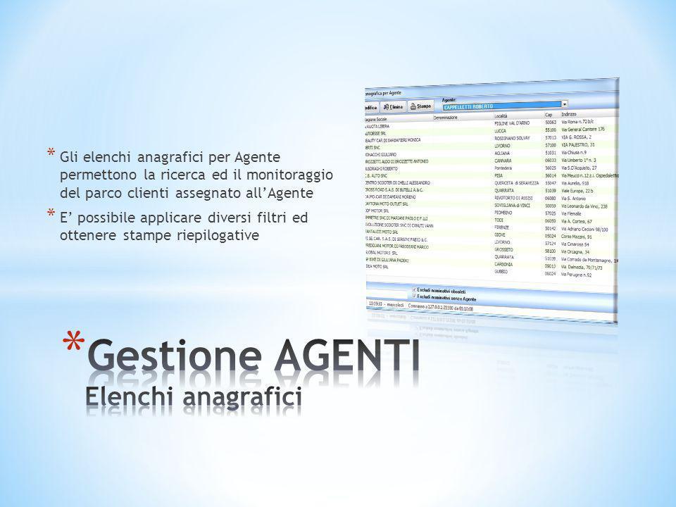 Gestione AGENTI Elenchi anagrafici