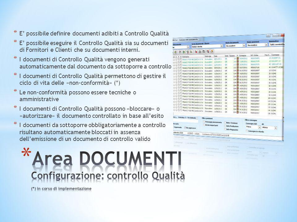 E' possibile definire documenti adibiti a Controllo Qualità