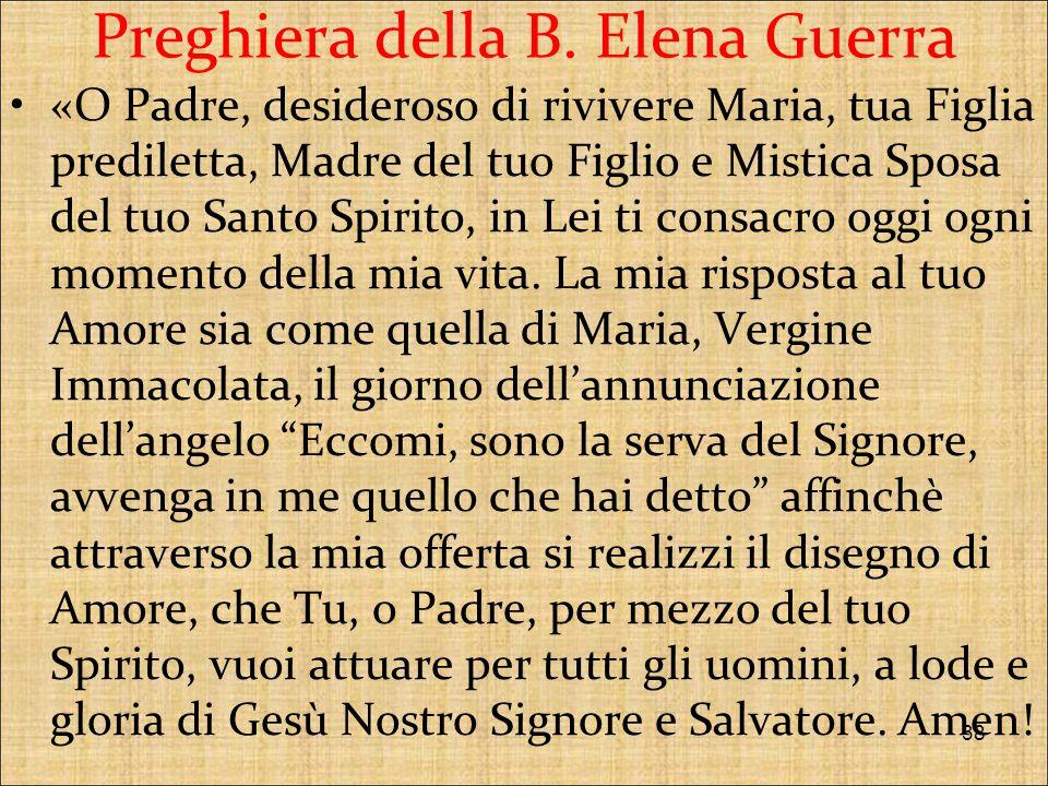 Preghiera della B. Elena Guerra