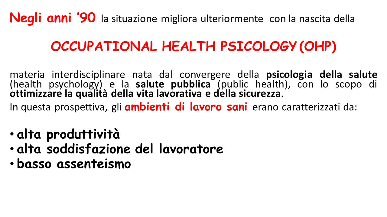 OCCUPATIONAL HEALTH PSICOLOGY (OHP)