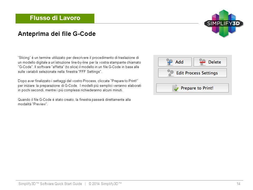 Anteprima dei file G-Code
