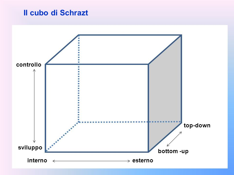 Il cubo di Schrazt controllo top-down sviluppo bottom -up interno