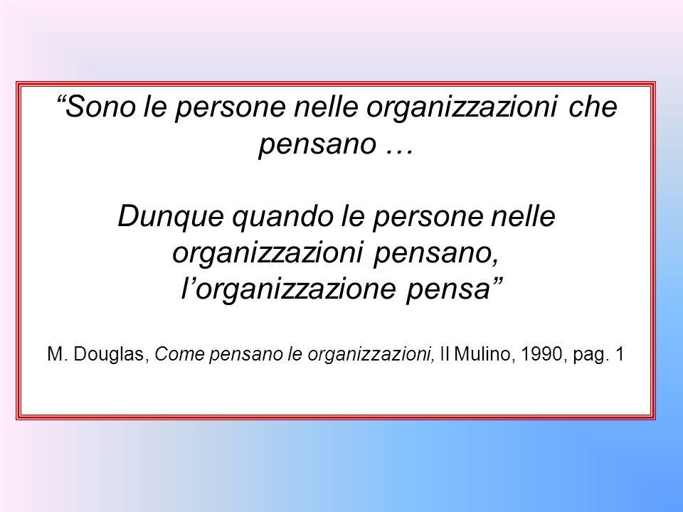 Sono le persone nelle organizzazioni che pensano …