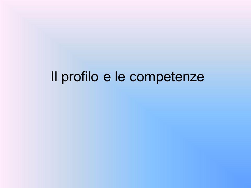 Il profilo e le competenze