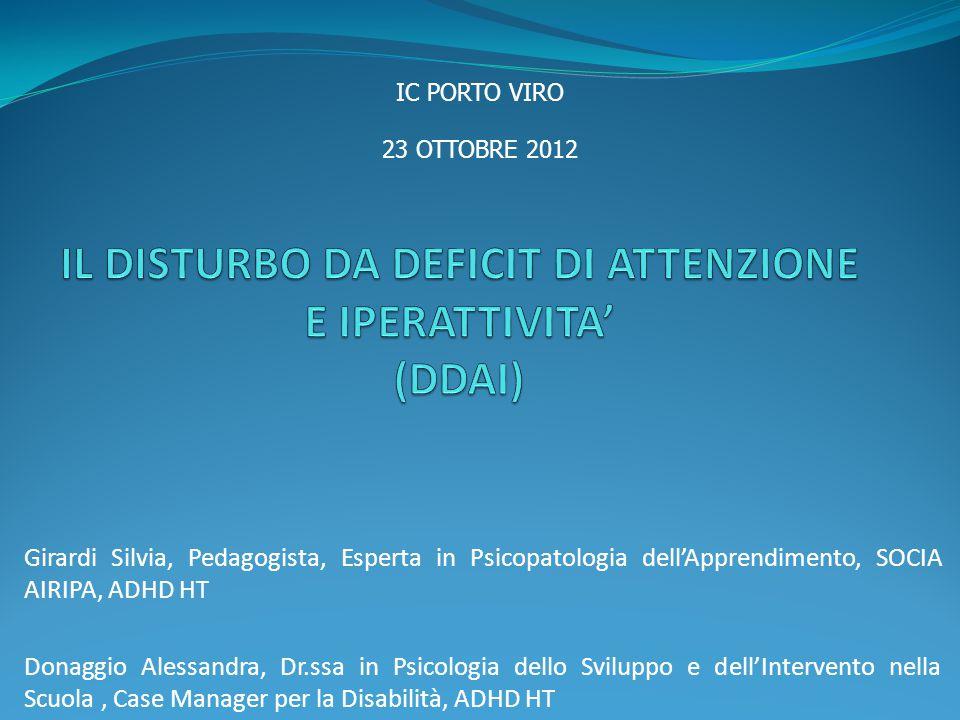 IL DISTURBO DA DEFICIT DI ATTENZIONE E IPERATTIVITA' (DDAI)