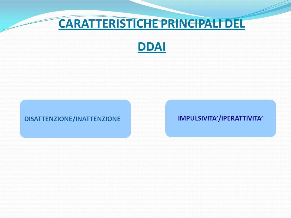 CARATTERISTICHE PRINCIPALI DEL