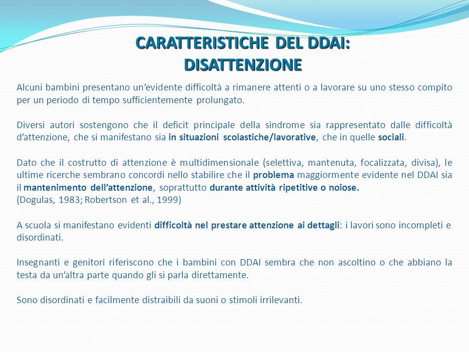 CARATTERISTICHE DEL DDAI: