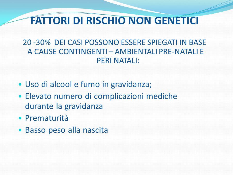 FATTORI DI RISCHIO NON GENETICI
