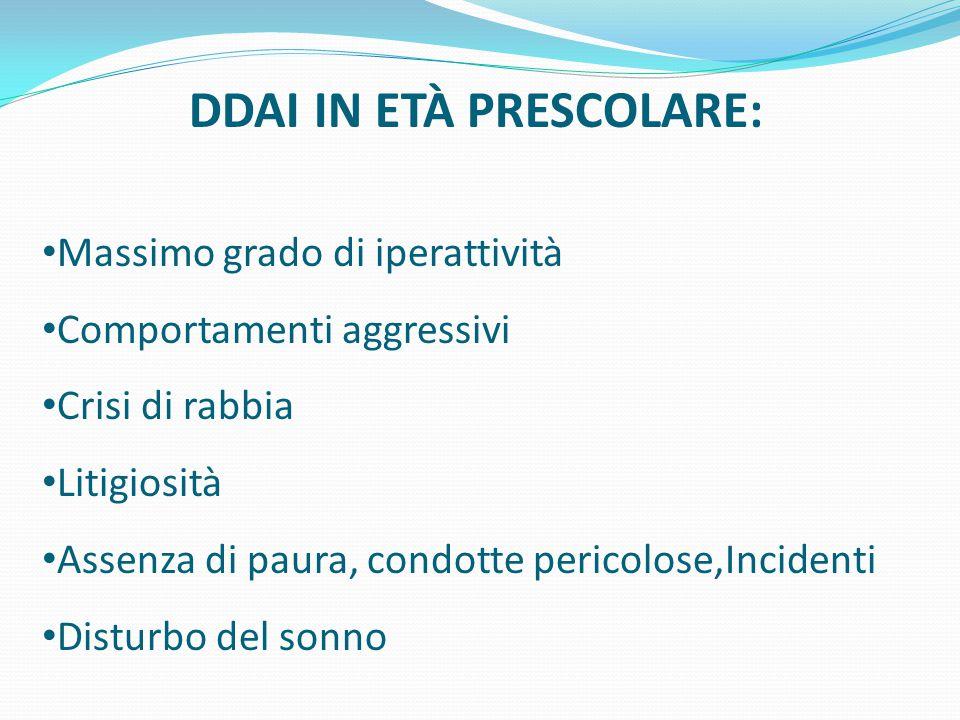 DDAI IN ETÀ PRESCOLARE: