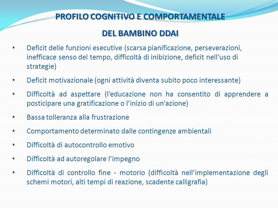 PROFILO COGNITIVO E COMPORTAMENTALE