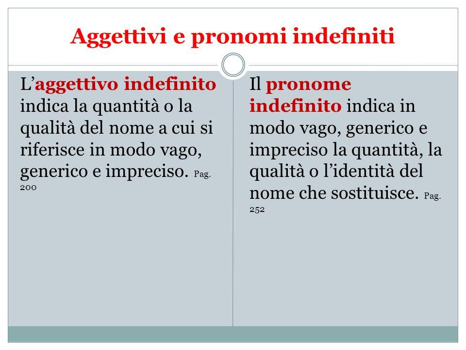 Aggettivi e pronomi indefiniti