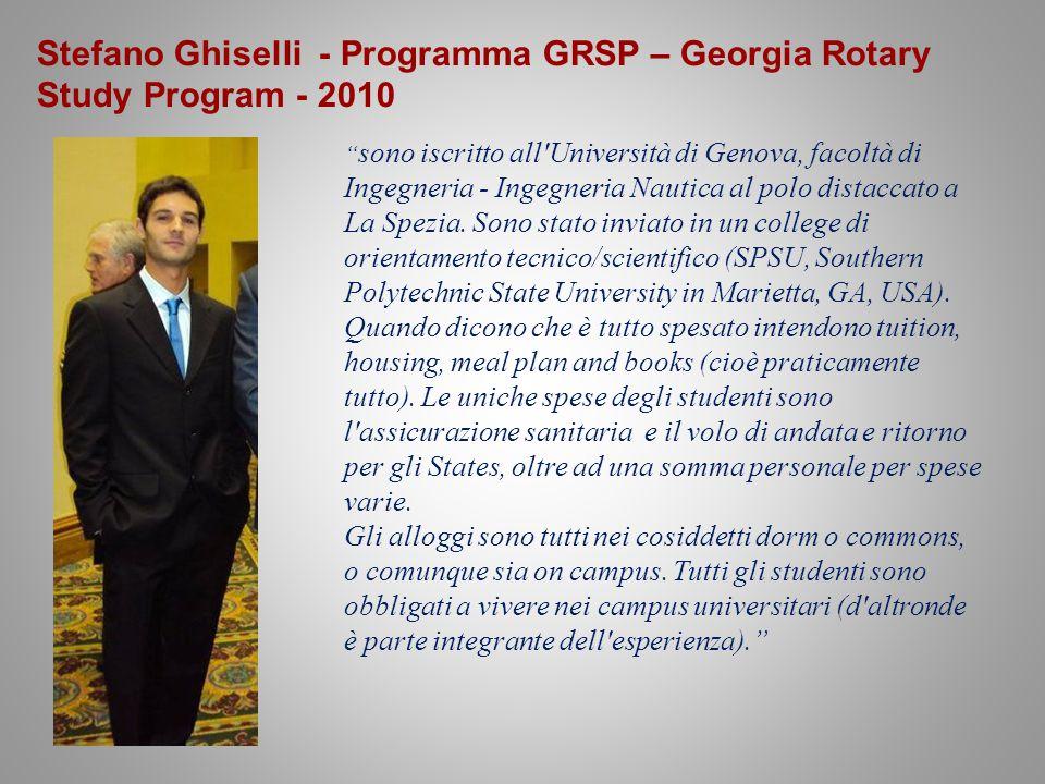 Stefano Ghiselli - Programma GRSP – Georgia Rotary Study Program - 2010