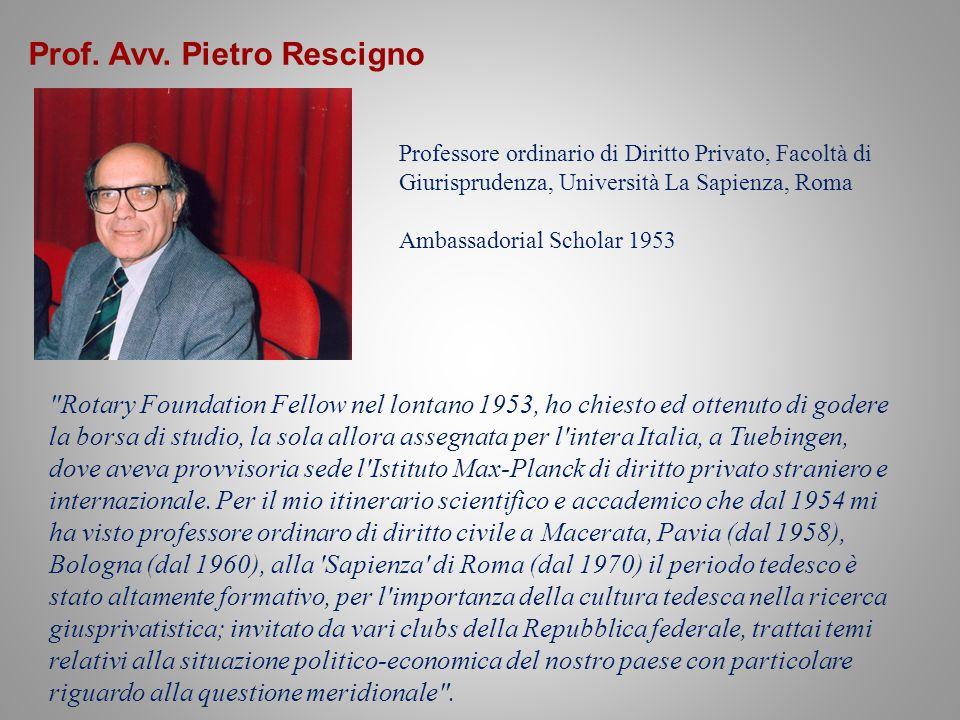 Prof. Avv. Pietro Rescigno