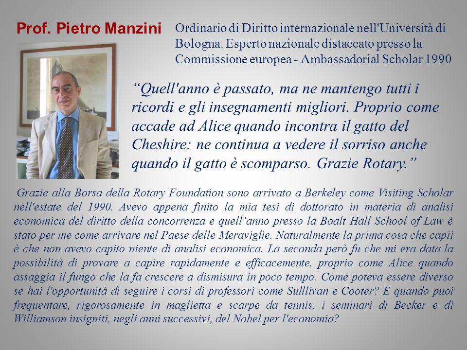 Prof. Pietro Manzini