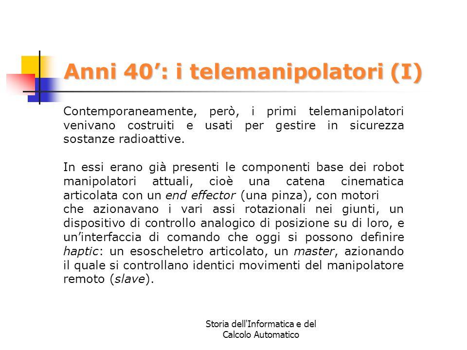 Anni 40': i telemanipolatori (I)