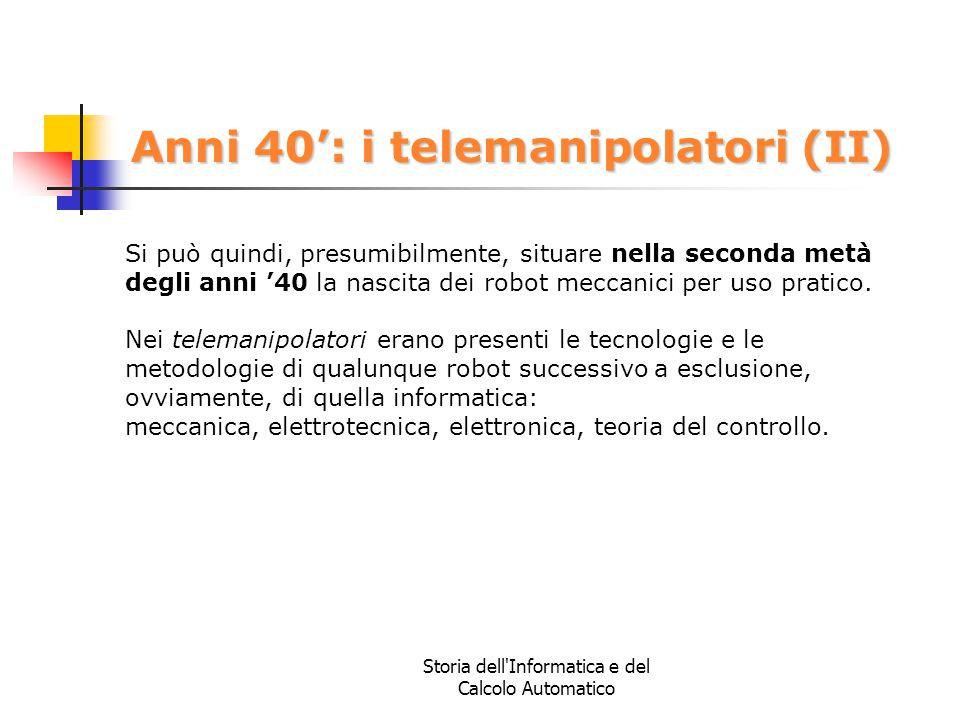 Anni 40': i telemanipolatori (II)