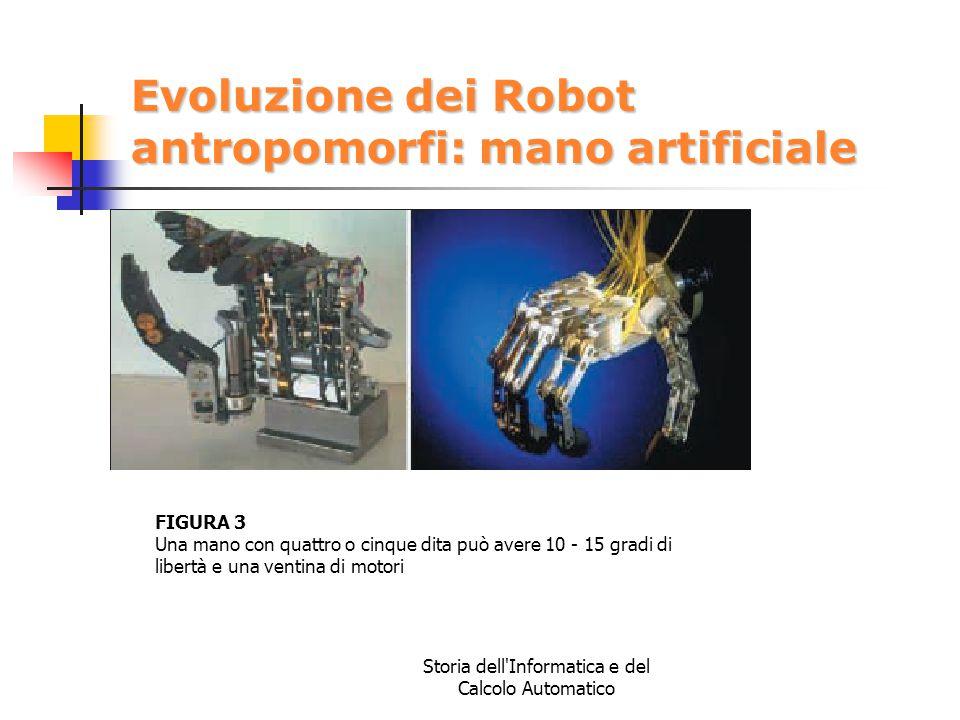 Evoluzione dei Robot antropomorfi: mano artificiale
