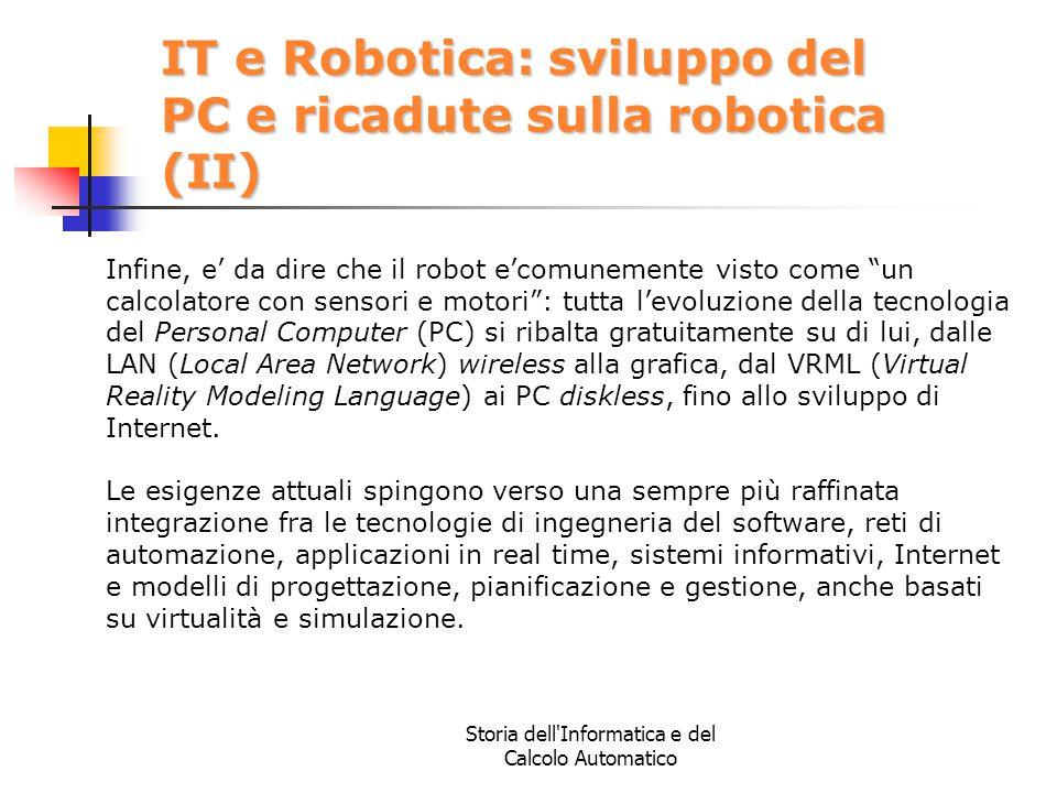 IT e Robotica: sviluppo del PC e ricadute sulla robotica (II)
