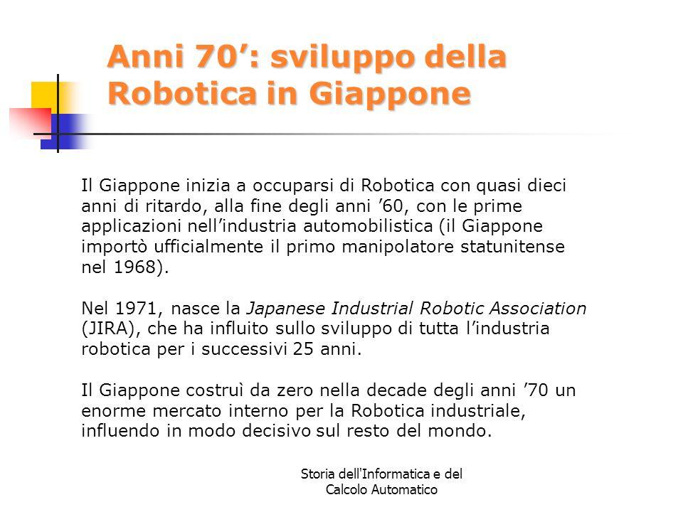 Anni 70': sviluppo della Robotica in Giappone