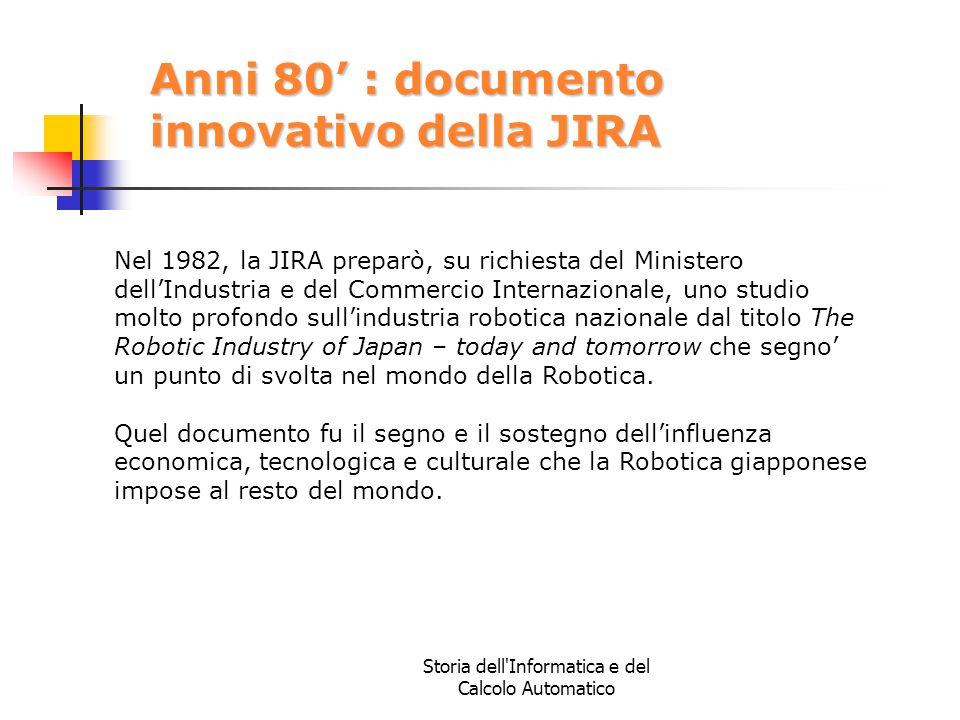 Anni 80' : documento innovativo della JIRA